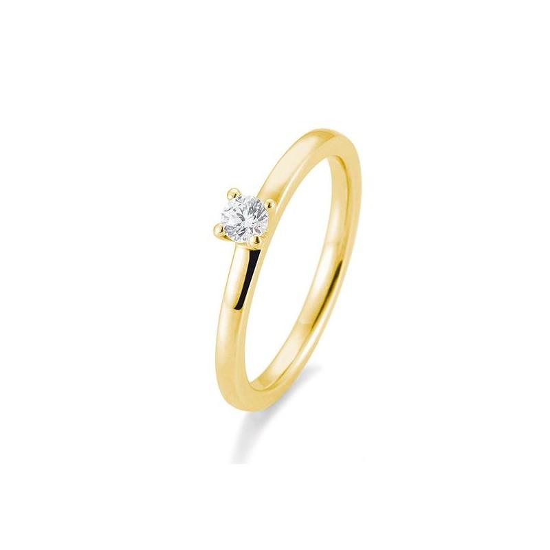 Verlobungsring Saint Maurice Gold mit Brillant