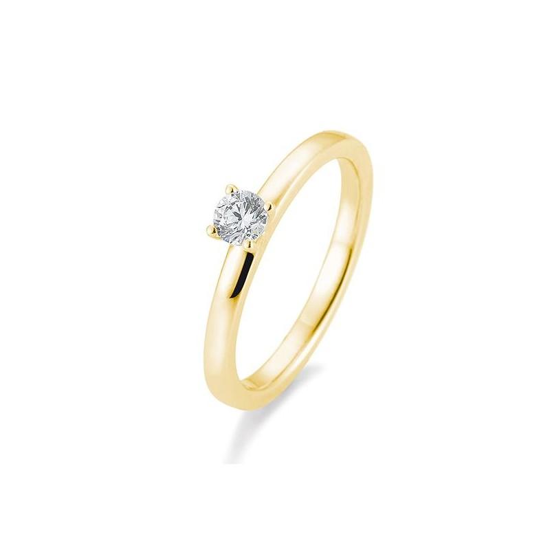 Verlobungsring in Gold mit Brillant
