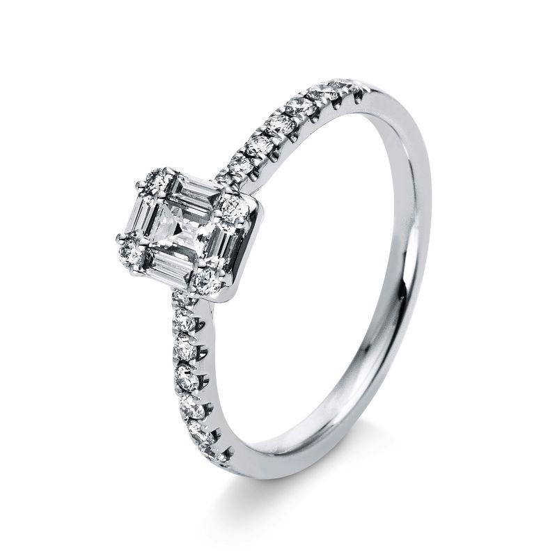 Ring mit Baguette-Diamanten